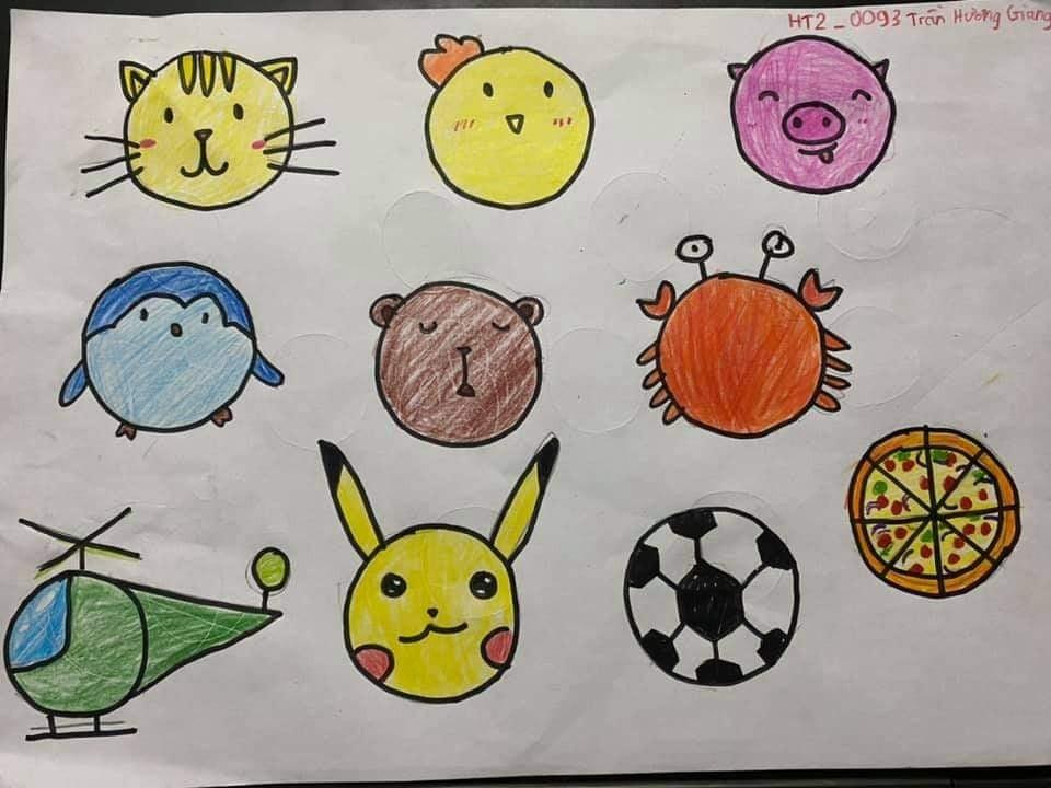 Một trong số nhiều bài dự thi sáng tạo từ hình tròn của các học viên gửi về Tâm Trí Lực
